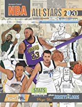 NBA All Stars 2020-21: The Ultimate Basketball Coloring, Activity and Stats Book for Adults and Kids! PDF