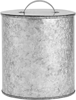 Amici Home 5AN862R Newport Storage Canister Metal Can, 156 Fluid Ounces, Galvanized