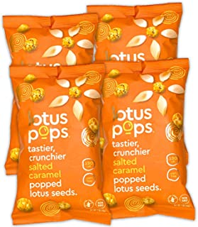 Lotus Pops - Popped Lotus (Water Lily) Seed Snacks – Low Calorie Gluten Free Snacks | Plant Protein | Roasted Not-Fried | ...