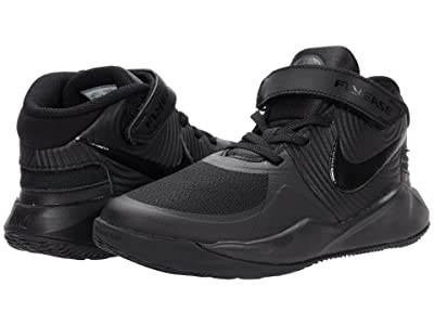 Nike Kids FlyEase Team Hustle D9 (Little Kid) (Black/Black/Dark Smoke Grey/Volt) Kids Shoes