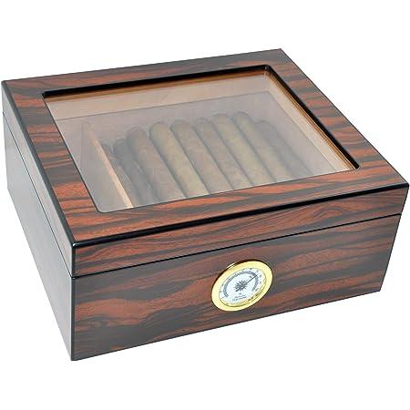 Durable Black Tobacco Smoking Cigar Humidor Humidifier Rectangle Humidor HU