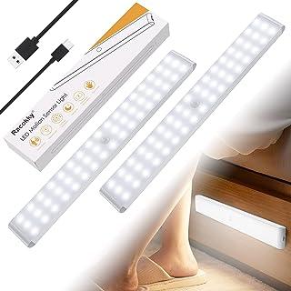 Racokky Réglable 50 LEDs Lampe à Détecteur de Mouvement 4 Modes(Nouveau: Mode avec Détection de Passage en Pleine Lumière)...