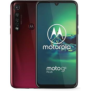 Motorola Moto G8+ Plus (64 GB, 4 GB) 6,3 pulgadas, Snapdragon 665, cámara de 48 MP, batería de 4000 mAh, Dual SIM GSM desbloqueado (at&T/T-Mobile/MetroPCS/Cricket/H2O) XT2019-2 - Versión Internacional, Rojo oscuro, 64 GB