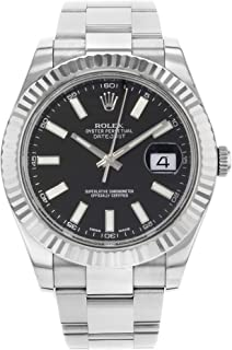 Datejust II 41 116334 Black Dial Men's Luxury Watch