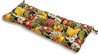 Greendale Home Fashions Indoor/Outdoor Bench Cushion, 51-Inch, Aloha Black