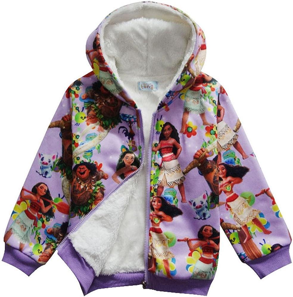 SCHWARZWALD Moana Girls' Hoodies Albuquerque Mall Coat Long-awaited Fashion Fleece Warm Jacket