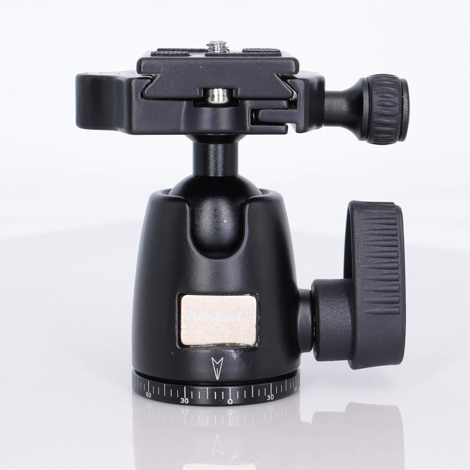 Color : Grey CAOMING Aluminum Alloy Quick Release Plate for Panoramic Head Durable Grey