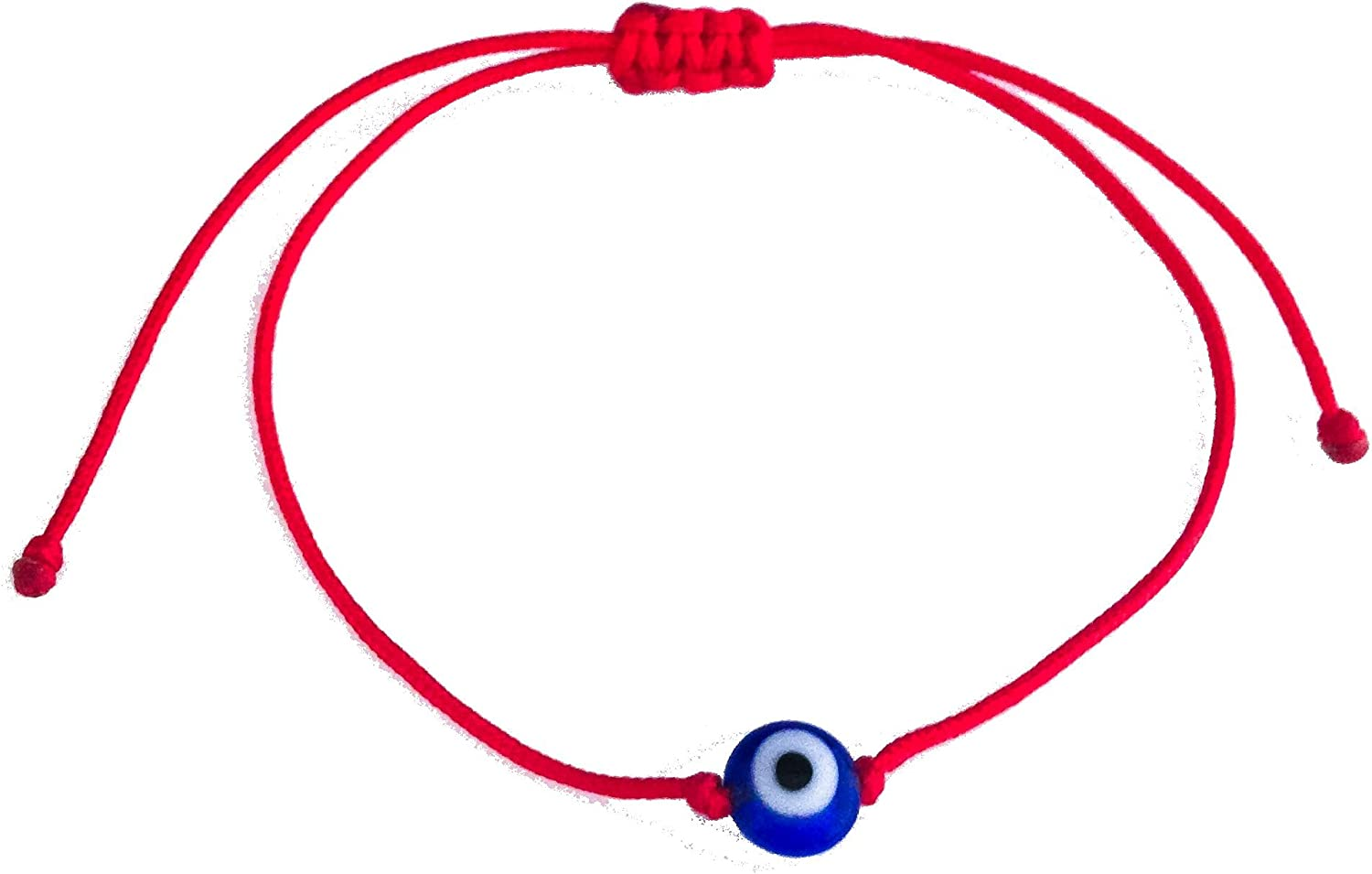 Baby/Child Size BLUE Glass Eye Of Protection Red String Bracelet by The Artsy Nomad; Unisex