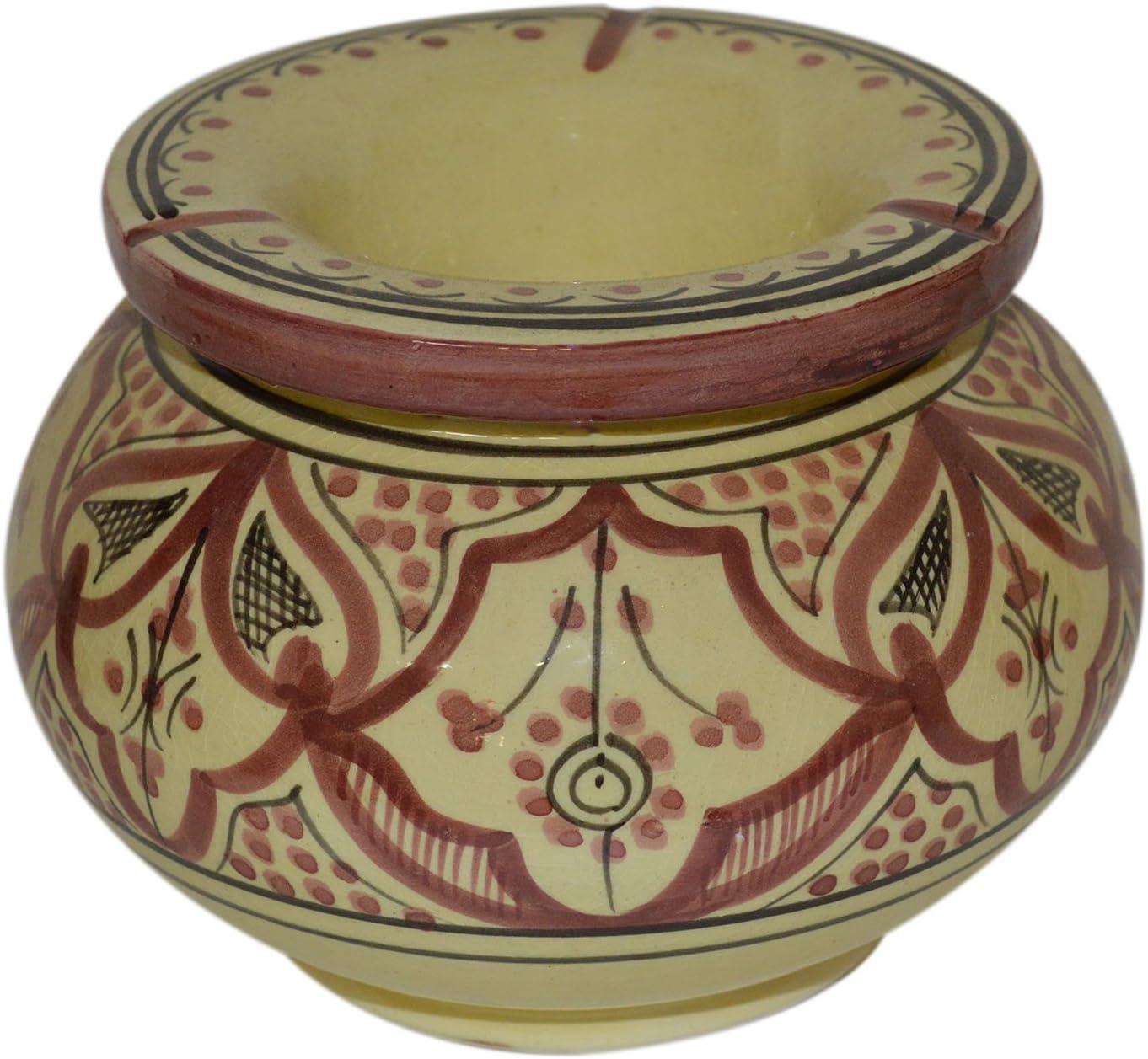 Moroccan Handmade Great Max 86% OFF interest Ceramic Ashtrays Cigar des Smokeless Exquisite