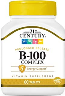 21st Century B 100 Complex Prolonged Release Caplets, 60 Count (Pack of 1)