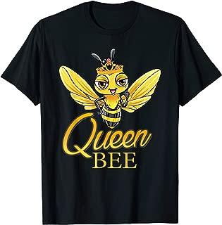 Queen Bee T-Shirt Crown Honey Bee Hive Shirt Gift