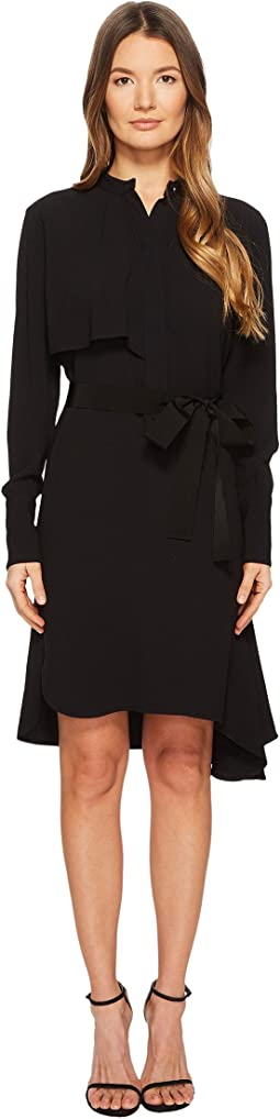 Dorina Long Sleeve Crepe Dress