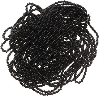 Czech Seed Beads 11/0 Jet Black Opaque (1 Hank/4000 Beads)