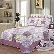 Duvet Cover Set 100% Egyptian Cotton Duvet Cover Set,3 Piece Luxury Soft Bedding Set with Button Closure WZCUICAN (Color : Purple, Size : 230 * 250cm)