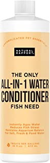 Natural Rapport Acondicionador de Agua para Acuario, Elimina amoniaco, nitrito, Cloro, cloraminas y Metales Pesados, añade electrolitos y Capa Delgada, Reduce el estrés, 473 ml
