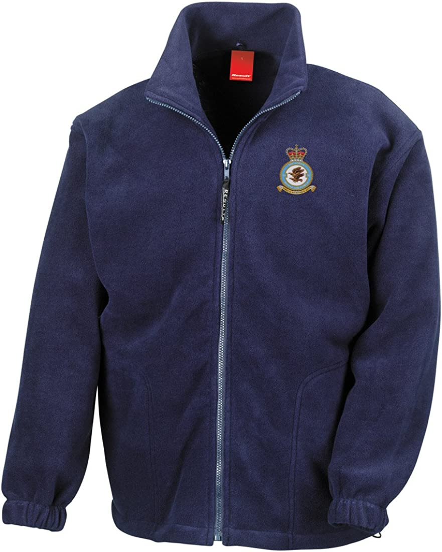 Official RAF Royal Air Force Full Zip Heavyweight Fleece Jacket Military Online No 11 RAF Squadron Embroidered Logo