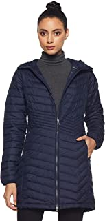 Columbia Women's Powder LITE MID Jacket Omni Heat-Dark Nocturnal Large
