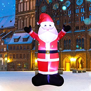 AJY 10-Feet Christmas Inflatable Santa Claus, Holiday Lighted Blow up Yard Decoration,10FT Tall Indoor and Outdoor Decor