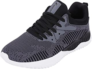 Fsports Latest Collection Black Colour Carlos Series Lycra Mesh Casual Shoes for Men