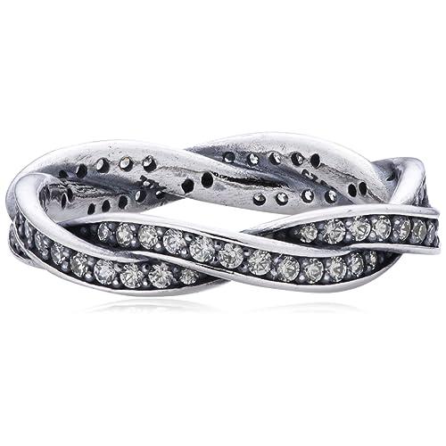 00657202e Pandora Pearl Cubic Zirconia Silver Ring - Size L 190892CZ-52
