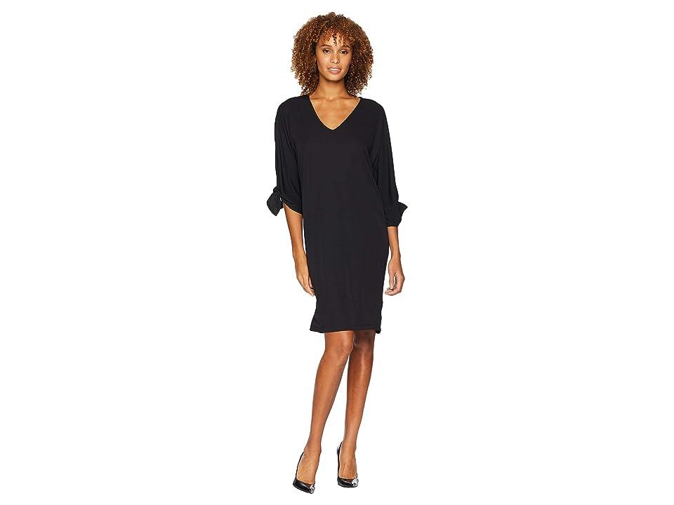 LAUREN Ralph Lauren Stretch Jersey Shift Dress (Polo Black) Women