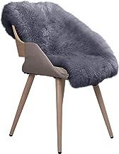 WOLTU TP3510gr-XL Öko Lammfell Schaffell Teppich Bettvorleger Sofa Matte echtes Naturfell Longhair Grau 90-110cm