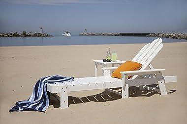 POLYWOOD Long Island Side Table, White