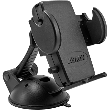 Arkon Windshield or Dash Car Phone Holder Mount for iPhone 12 11 XS XR X Galaxy Note 20 10 9 Retail Black