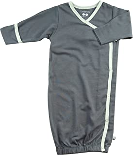 Babysoy Kimono Gown - Long Sleeve Newborn Sleep Sac/Bundler with Mittens