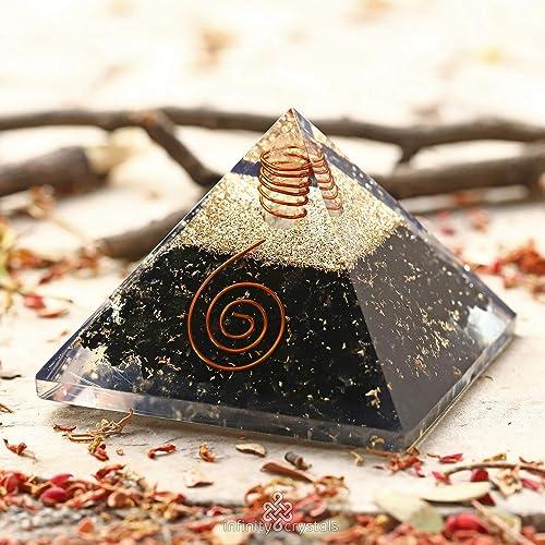 Black Tourmaline HEALING CHAKRA Pyramid – Radiation Shield & EMF Protection  Device – Negative Energy Transformer | ORGONE ENERGY GENERATOR with