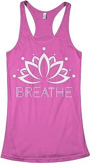 Threadrock Women's Breathe Lotus Flower Racerback Tank Top