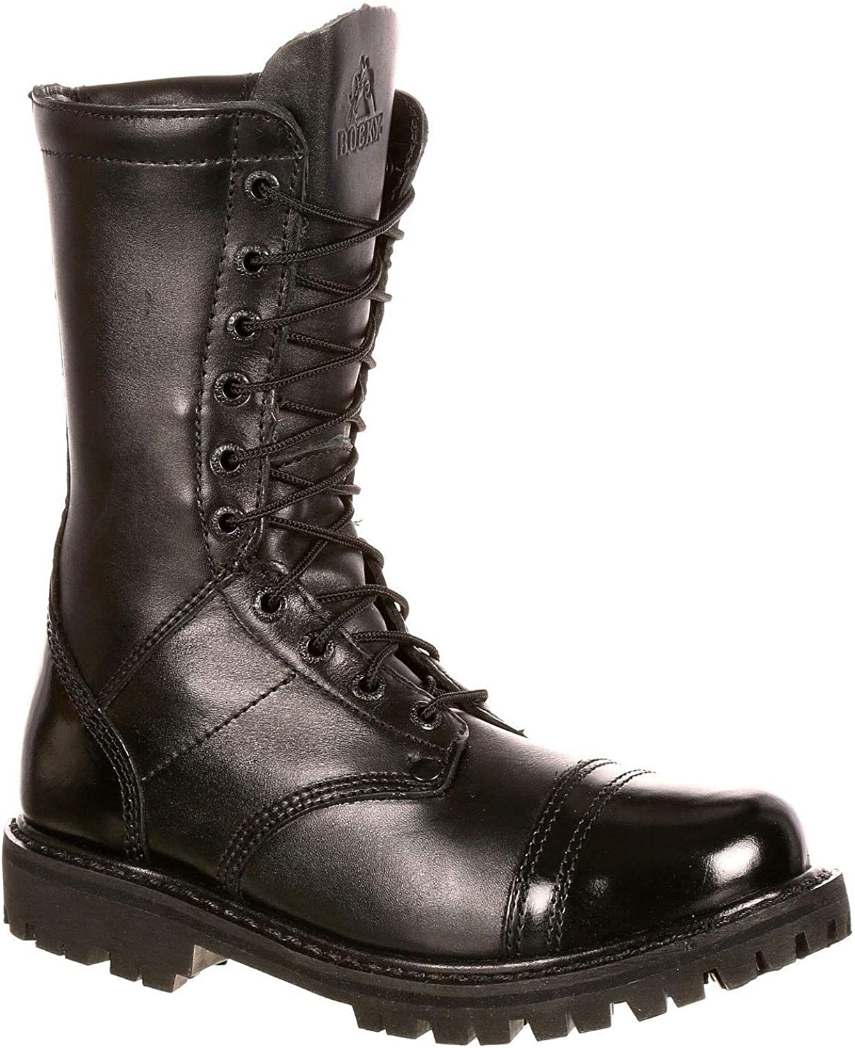 Rocky Outdoor Boots Womens Zipper Leather Tall Raven FQ0004090