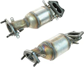 Front & Rear Exhaust Manifolds w/Catalytic Converter Pair Set for V6