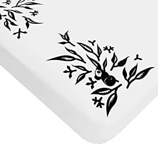 Nanit Smart Sheets - Works with All Nanit Cameras to Measure Your Baby's Growth, 100% Cotton Fitted Sheets, White, One Size