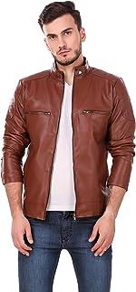 Leather Retail Men's Solid Biker Jacket