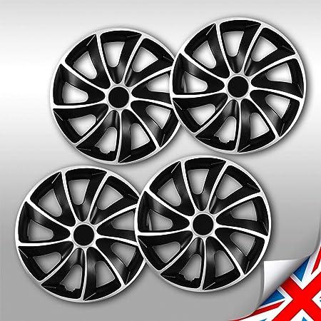 Nrm Quad Bicolor Radzierblenden 4 X Universal Radkappen Schwarz Silber 4er Set 17 Zoll Auto