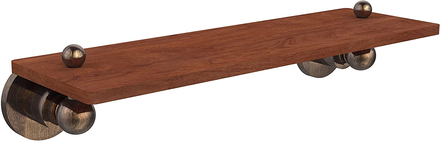 Allied Brass AP-1-16-IRW-VB Astor Place Collection 16  Solid Ipe Ironwood Shelf,