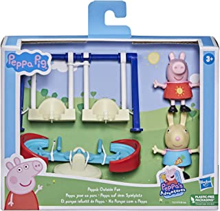 Peppa Pig Peppa's Adventures Peppa's Outside Fun Preschool Toy, with 2 Figures and 3 Accessories, Ages 3 and Up