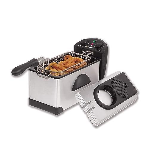 Gourmia GDF300 Compact Electric Restaurant Deep Fryer - 1 Basket - Dual Temperature and Timer Dials