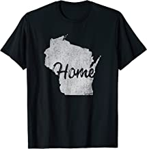 Wisconsin Home Vintage Distressed Shirt I Love Wisconsin