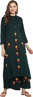 Indian Tunic Tops Rayon Kurti Set for Women