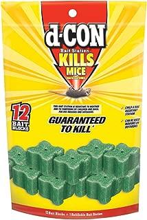 d-CON Refillable Corner Fit Mouse Poison Bait Station, 4 Traps + 48 Refills (4 Packs x 1 Trap + 12 Refills)