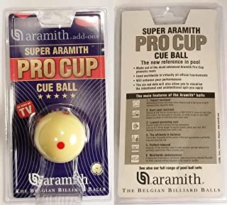 Aramith Super Aramith Pro Cup Cue Ball - 6 Red Dot Measle Ball