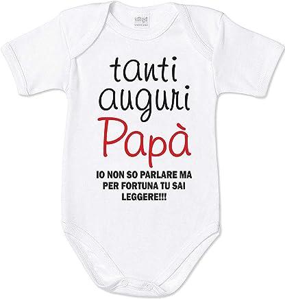 052d445d2db0f0 Centro Stampa Brianza Maglietta Bimbo Bimba Spiritosa - Tanti Auguri papà