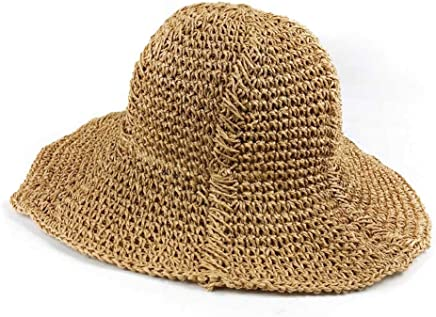 5082dd623 Sun Hats Travel Folding Seaside Straw Hat Light Coffee Sun Visor Hat  Sunscreen Beach Wild Fisherman