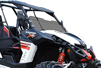 SuperATV Heavy Duty Dark Tinted Half Windshield   Fits 2013-2018 Can-Am Maverick/Maverick..