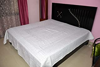 Indian Handmade kantha Bedspreads Cotton Applique Bedspread Traditional Bed cover Indian Cotton Applique Cut work Bed sheets