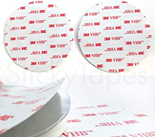 3M VHB RP45 GREY Circles - 2 Pads of Acrylic Foam Tape - 89mm Diameter x 1.1mm Thick - DOUBLE SIDED