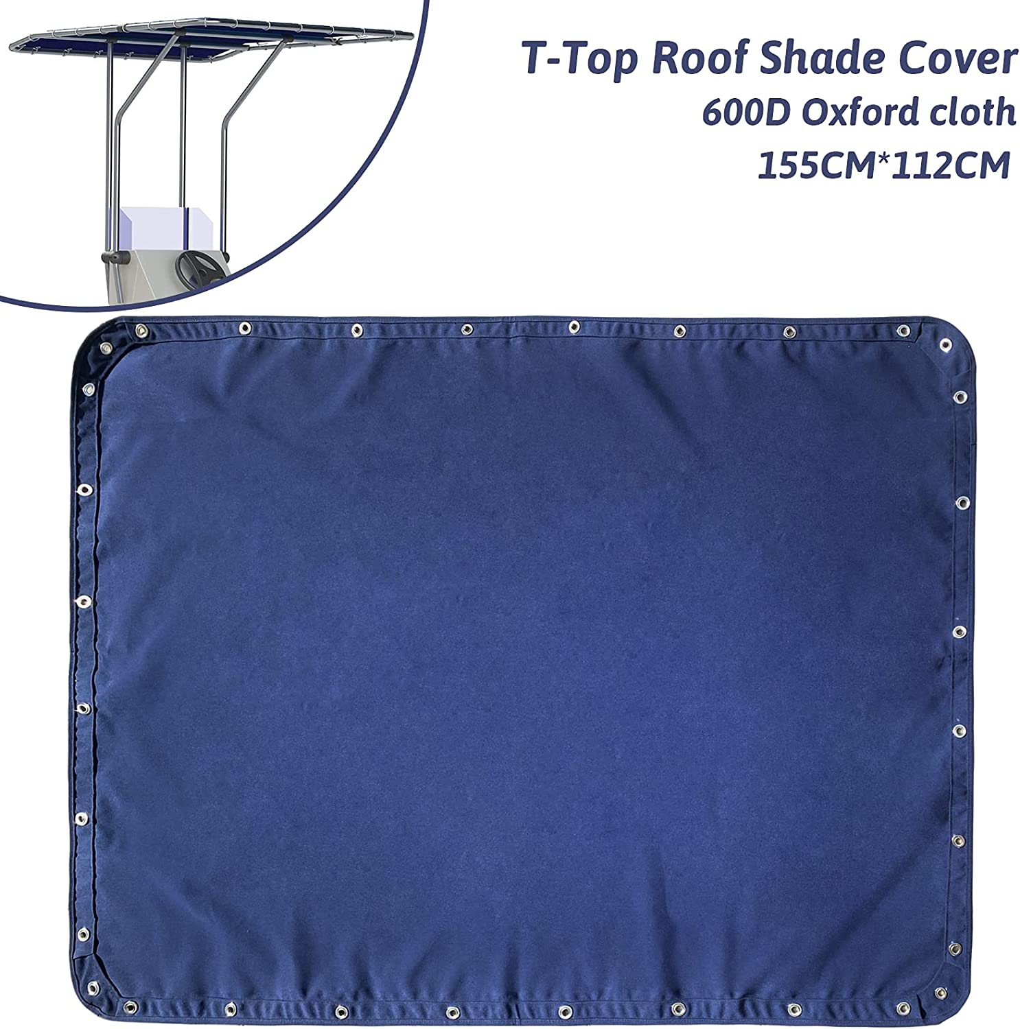 TeBaisea Boat T-Top Shade Cover Boat Center Console Shade T Top