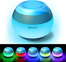 SOAIY S-45 Smart Touch LED Night Light Bluetooth Speaker, Mood Lamp 7 Color Changing Lighting Modes Portable Wireless Speaker, Handsfree Calling/Mirco-SD Card/AUX-in Supported